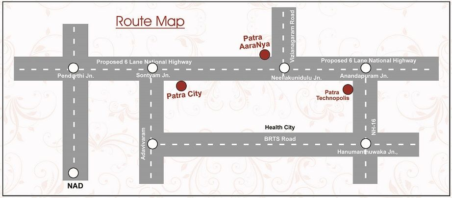 Route Map, Patra City